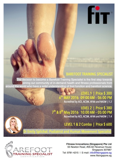 Barefoot Training Specialist 2016 May